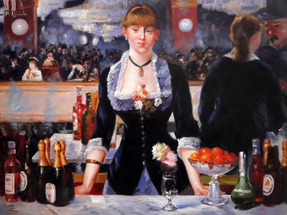 an analysis of manets painting a bar at the folies begere Edouard manet (1832-1883): french impressionist artist, famous for paintings like bar at the folies-bergere (1882), olympia (1863).