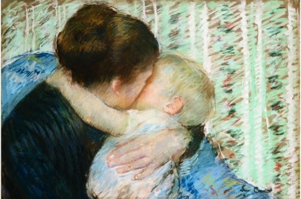 A Goodnight Hug - Mary Cassatt Painting on Canvas