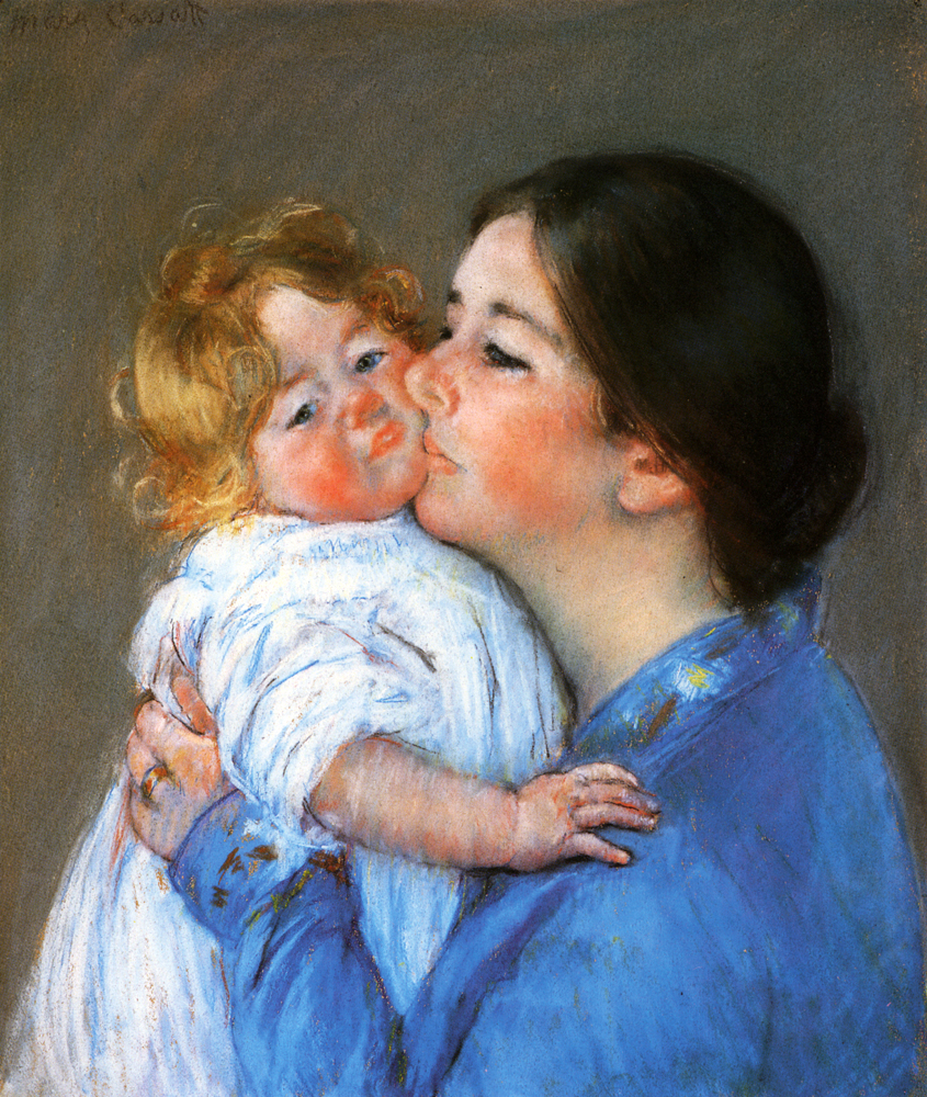 A Kiss For Baby Anne - Mary Cassatt Painting on Canvas