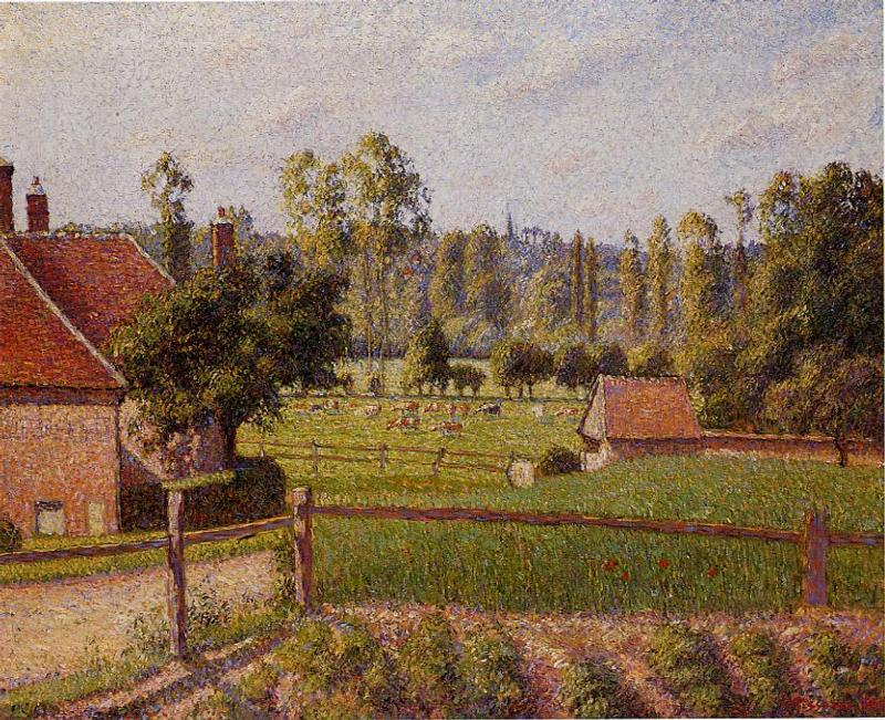 A Meadow in Eragny - Camille Pissarro Paintings