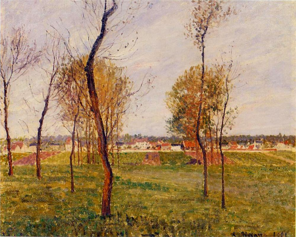 A Meadow in Moret - Camille Pissarro Paintings