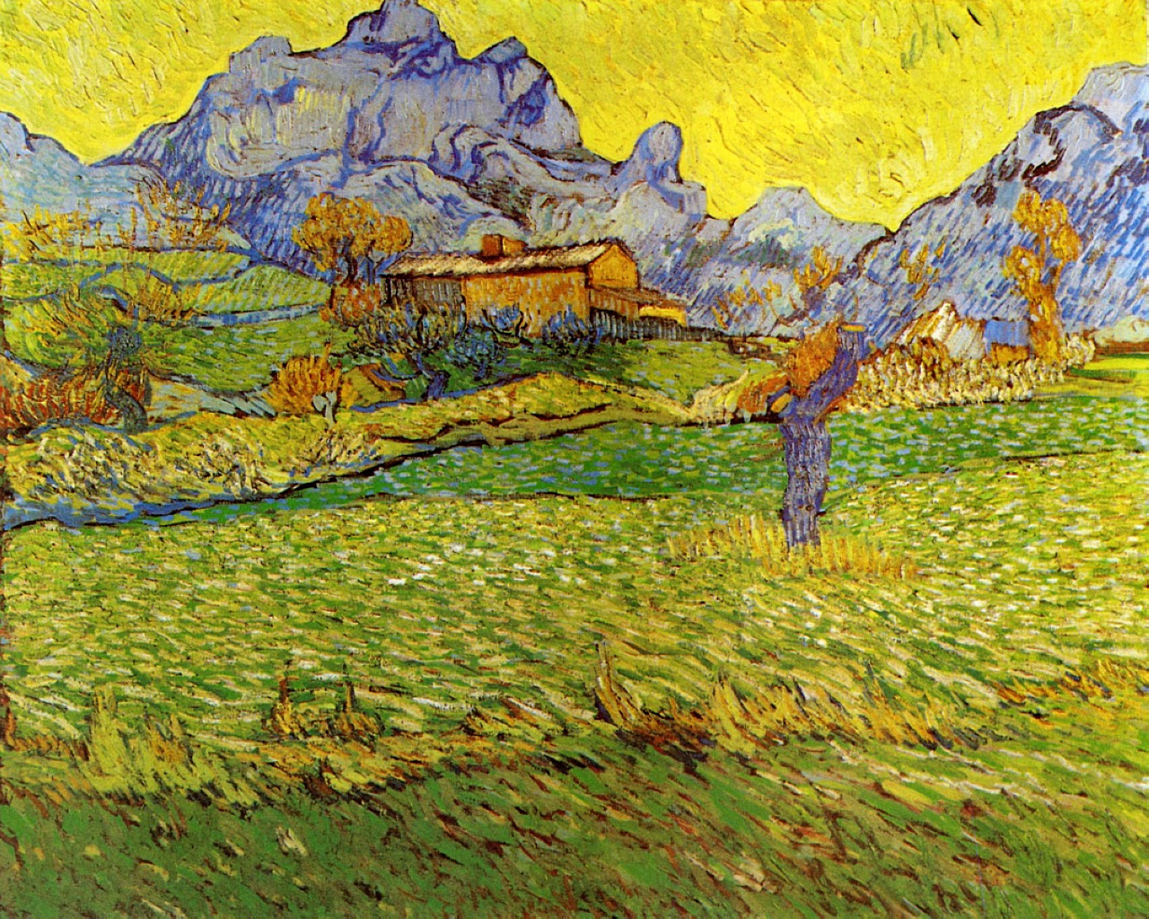 A Meadow in the Mountains, 1889 - Van Gogh Painting On Canvas