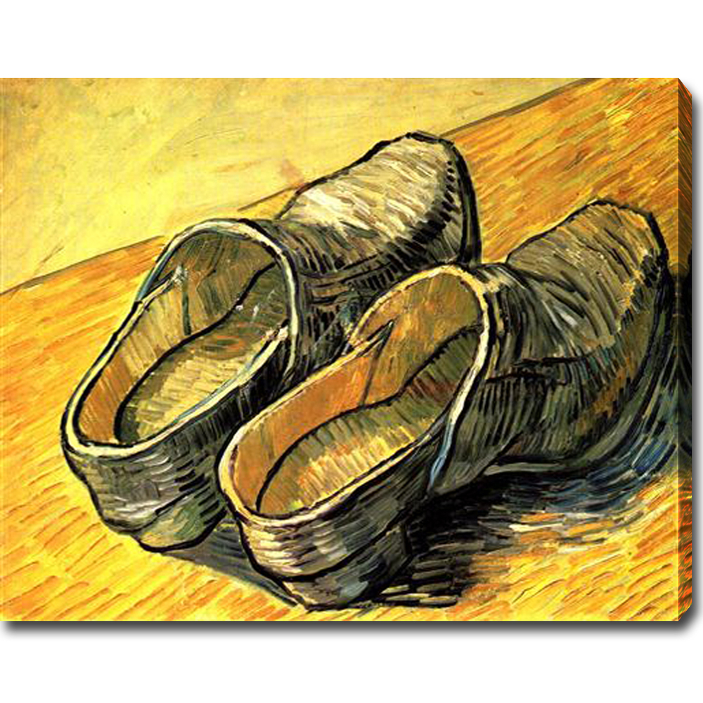 A Pair of Leather Clogs - Van Gogh Painting On Canvas