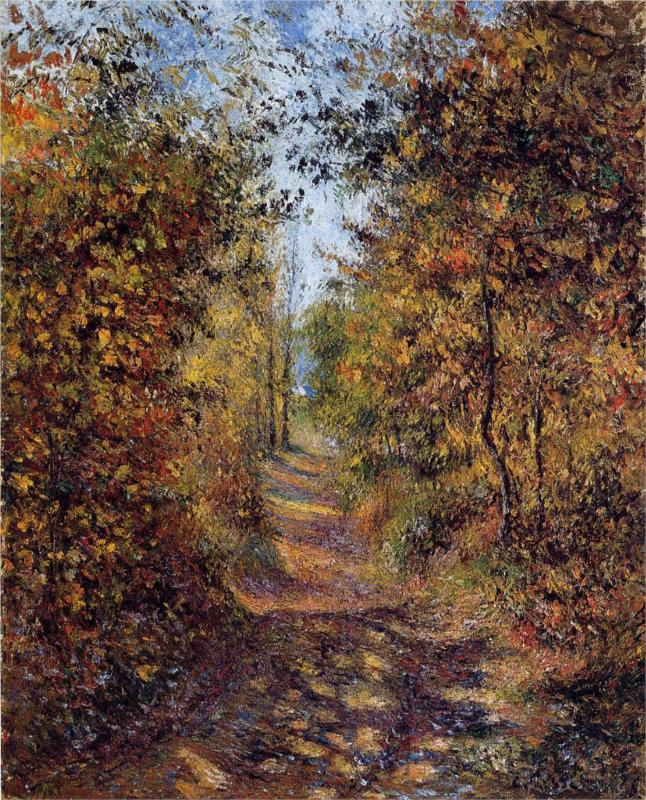 A Path in the Woods, Pontoise - Camille Pissarro Paintings