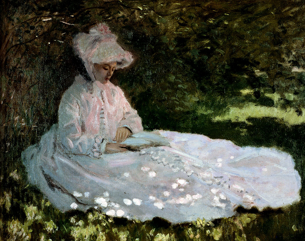A Woman Reading 1872 - Claude Monet Paintings