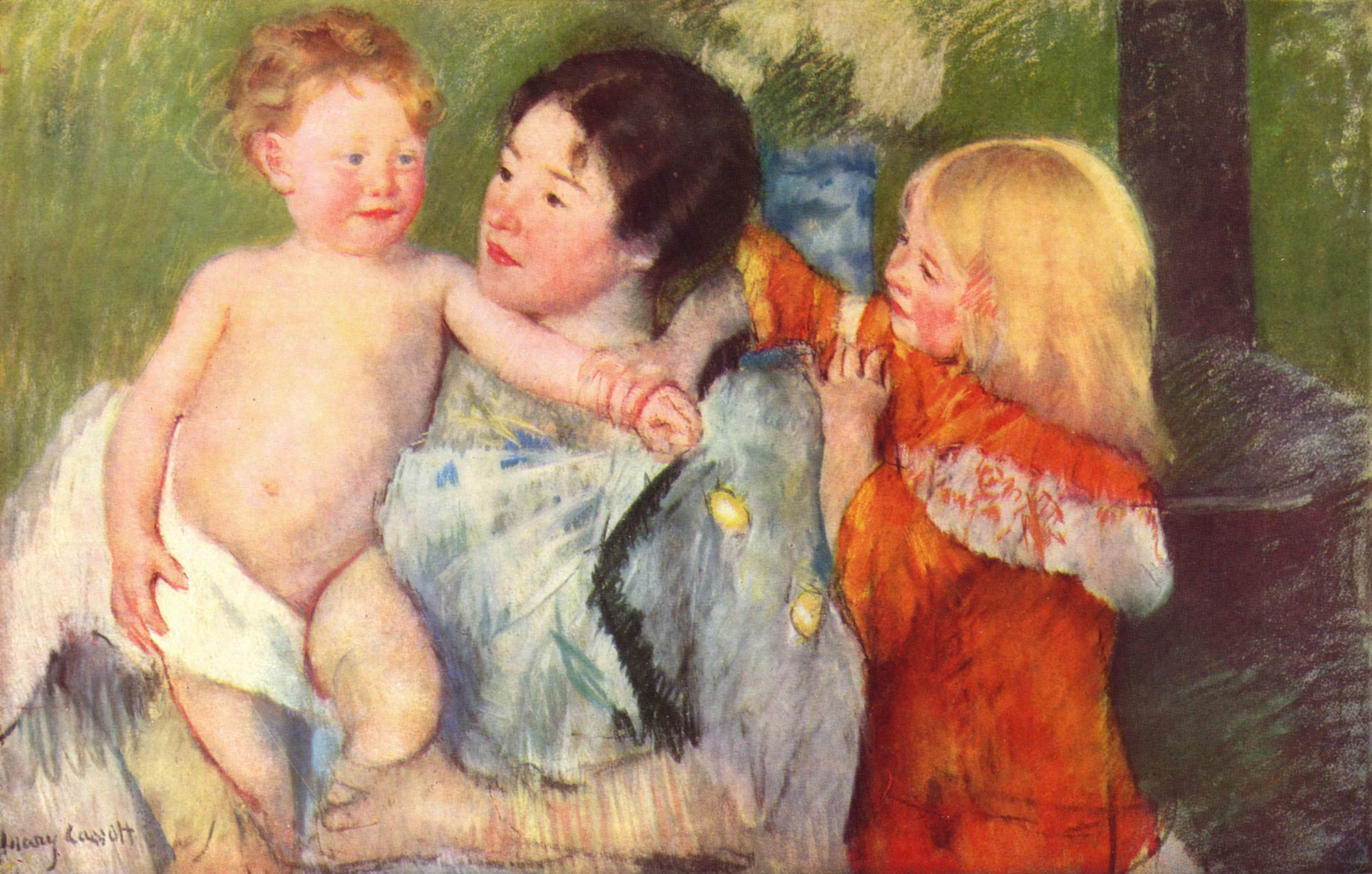 After the bath - Mary Cassatt Painting on Canvas