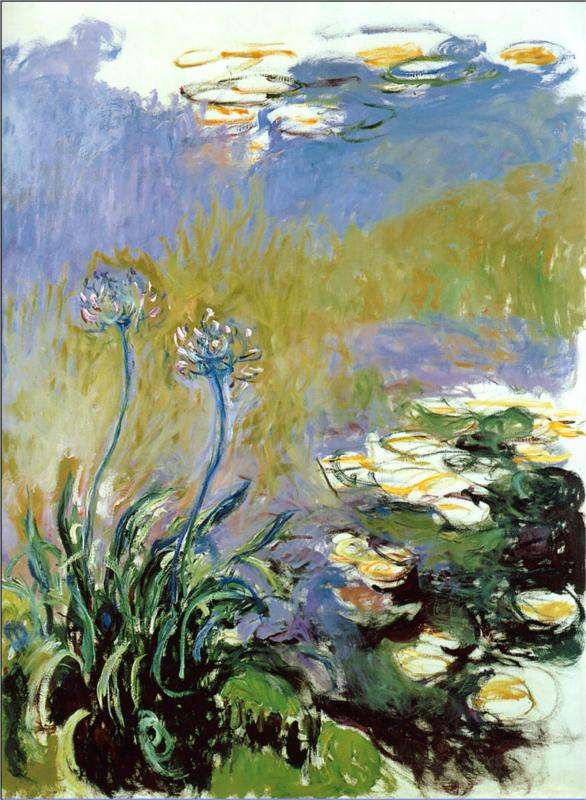 Agapanthus - 1914-1917 - Claude Monet Paintings
