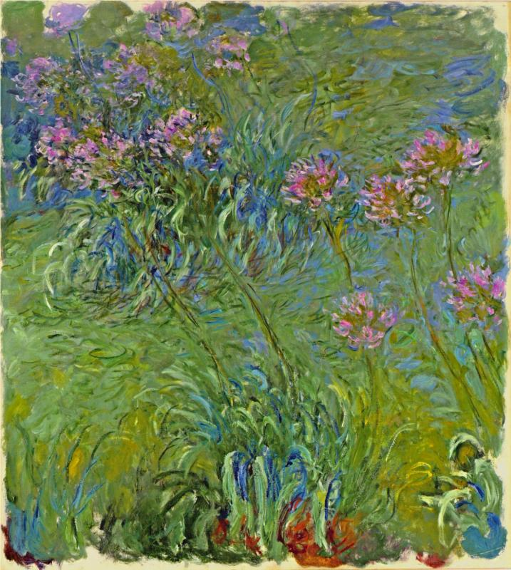 Agapanthus Flowers 1914-1917 - Claude Monet Paintings