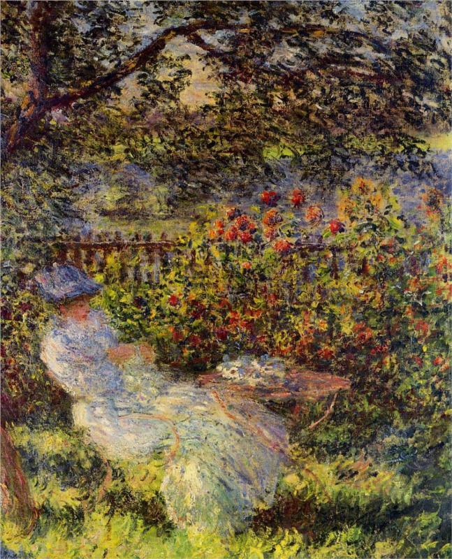 Alice Hoschede in the Garden t, 1881 - Claude Monet Paintings