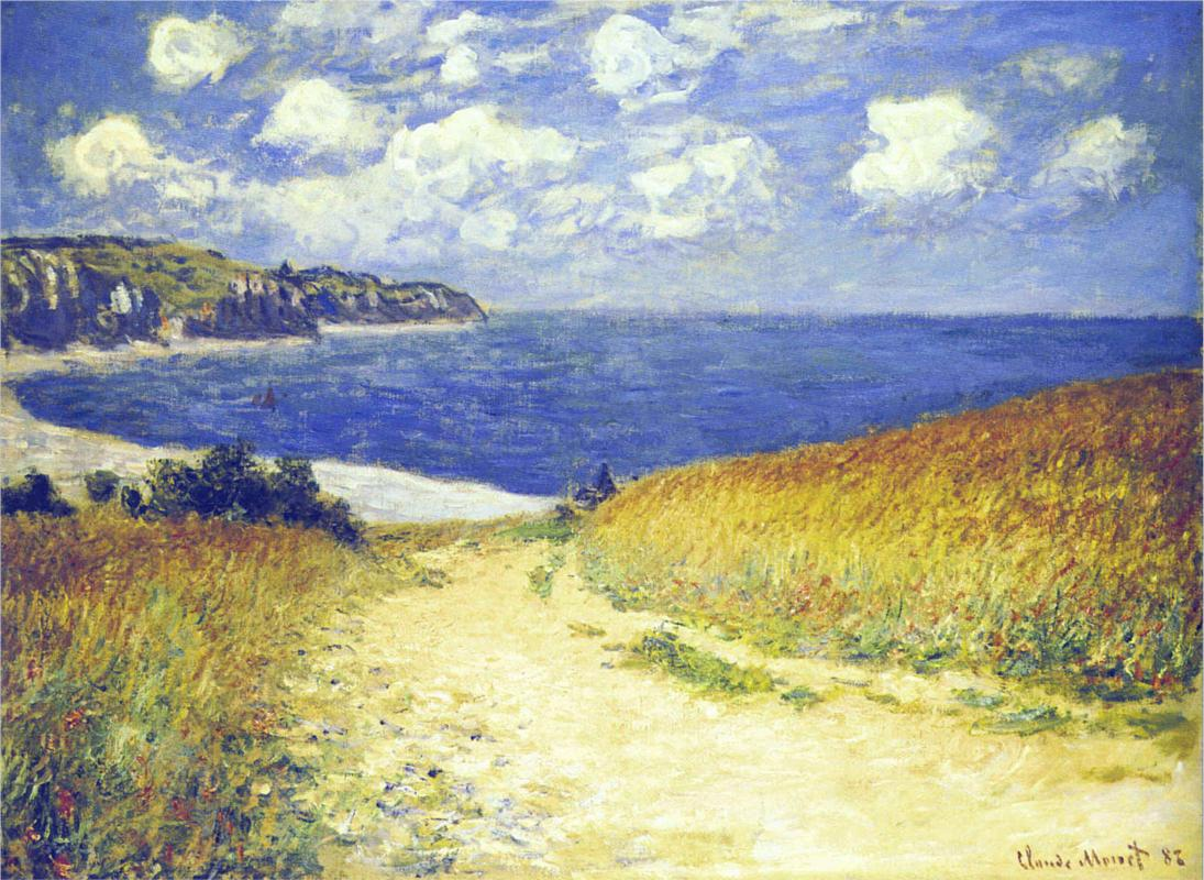 Alley near Pourville 1882 - Claude Monet Paintings