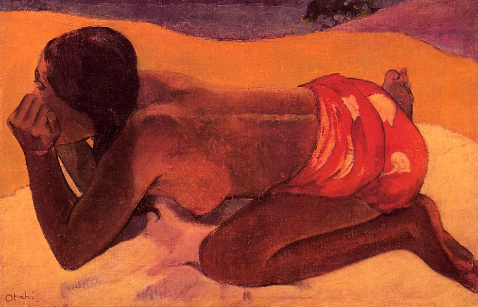 Alone - Paul Gauguin Painting