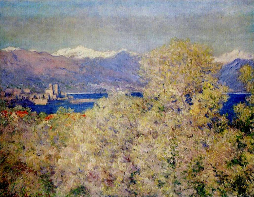 Antibes - View of the Salis Gardens 1888 - Claude Monet Paintings
