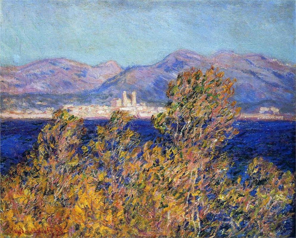 Antibes Seen from the Cape, Mistral Wind 188 - Claude Monet Paintings