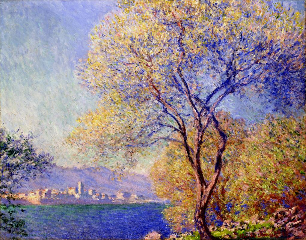 Antibes Seen from the Salis Gardens 1888 - Claude Monet Paintings