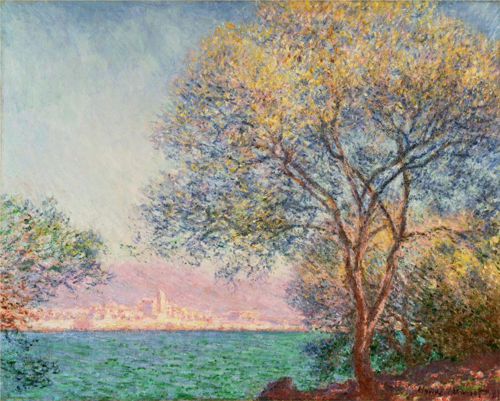 Antibes in the Morning - Claude Monet, 1888 - Claude Monet Paintings