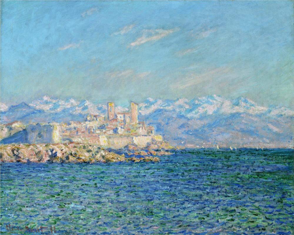 Antibes, Afternoon Effect 1888 - Claude Monet Paintings