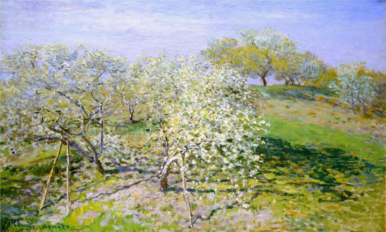 Apple Trees in Bloom 1873 - Claude Monet Paintings