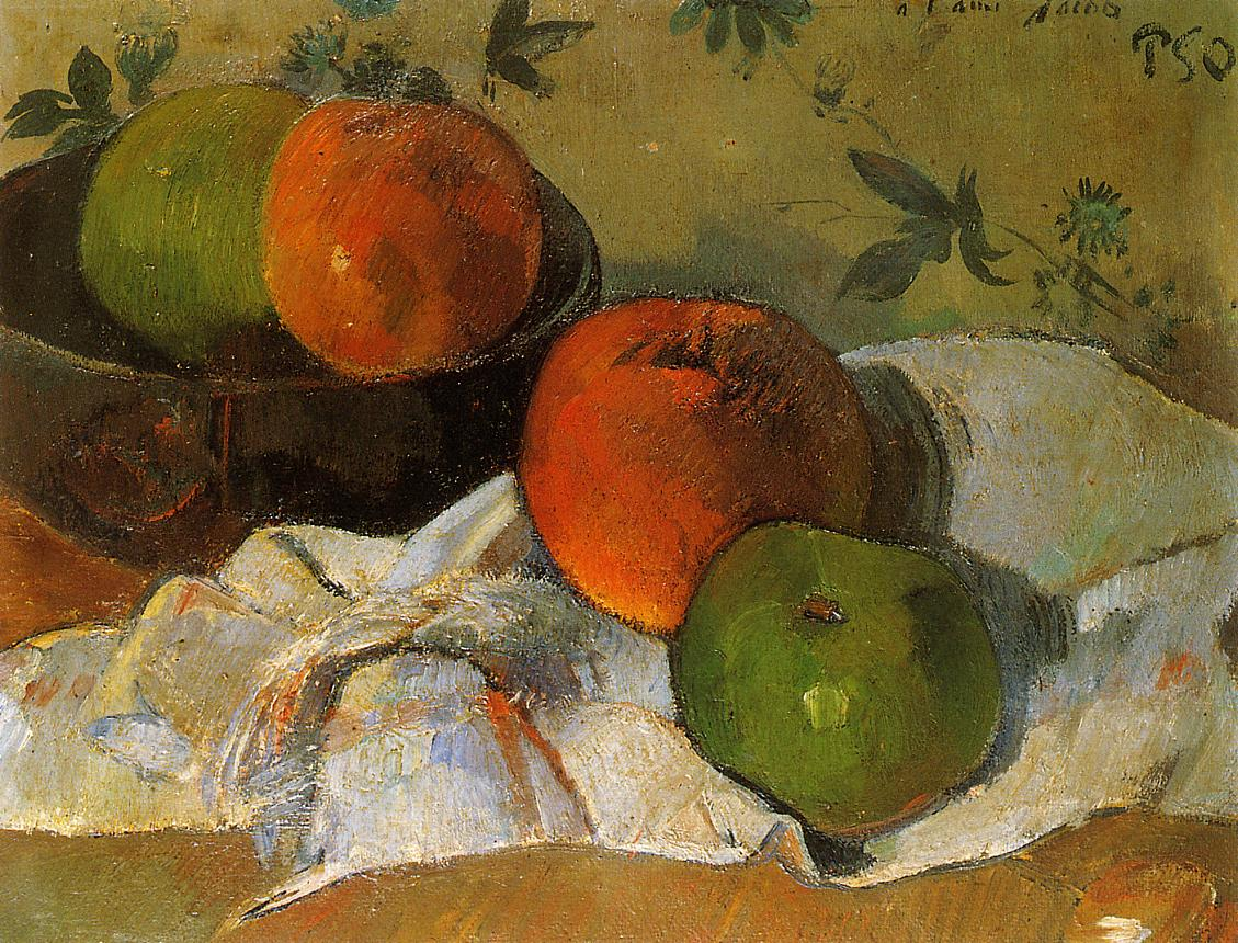 Apples and Bowl - Paul Gauguin Painting