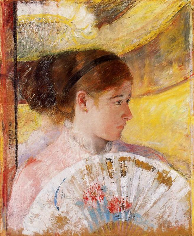 At the Theater - Mary Cassatt Painting on Canvas