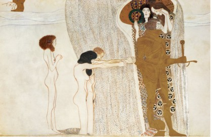 BEETHOVEN FRIEZE DESIRE FOR HAPPINESS, C.1902 - Gustav Klimt Paintings
