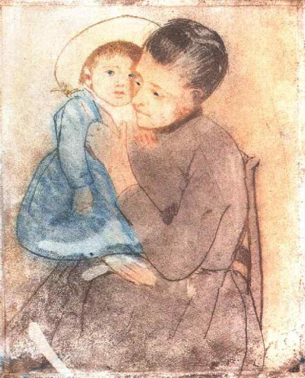 Baby Bill - Mary Cassatt Painting on Canvas
