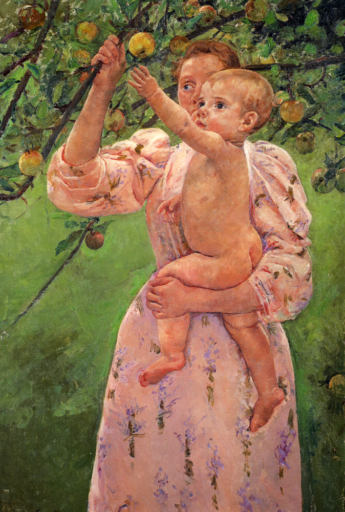 Baby Reaching For An Apple - Mary Cassatt Painting on Canvas