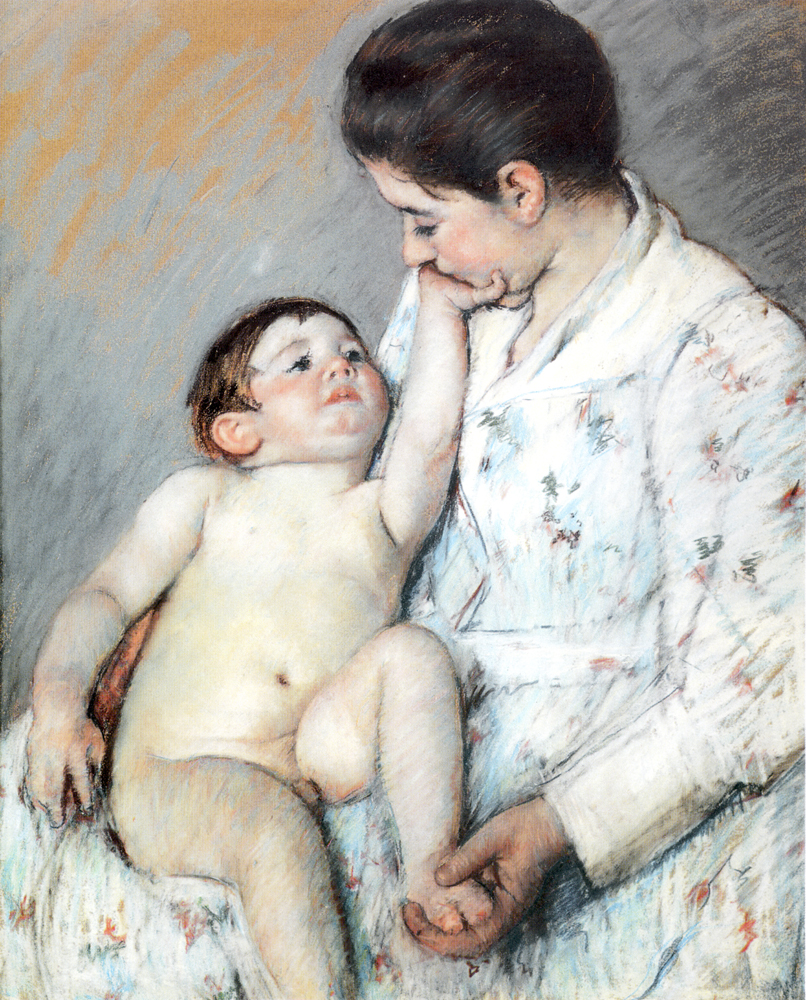 Babys First Cess - Mary Cassatt Painting on Canvas