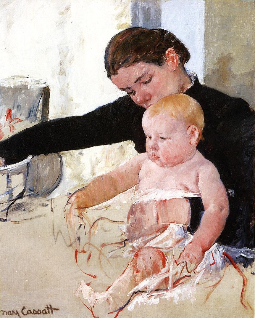 Bathing the Young Heir - Mary Cassatt Painting on Canvas