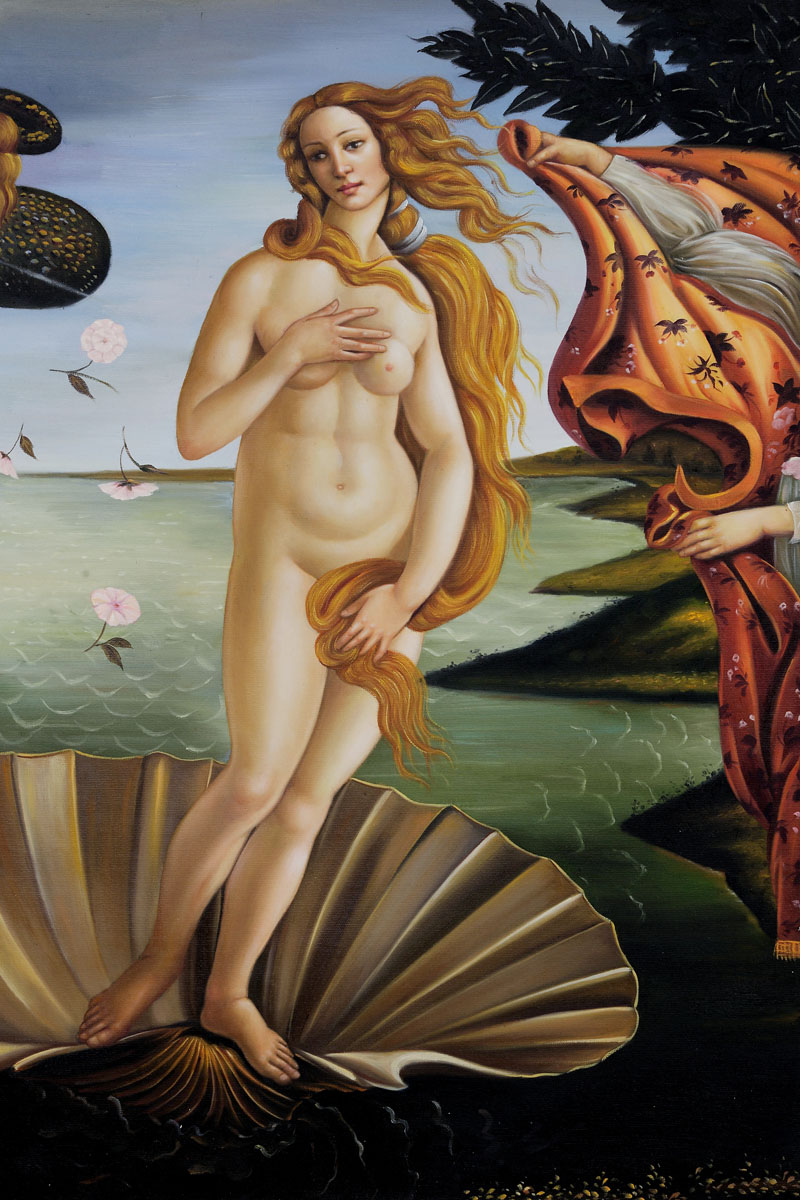 Birth Of Venus (Center Panel) - Sandro Botticelli painting on canvas
