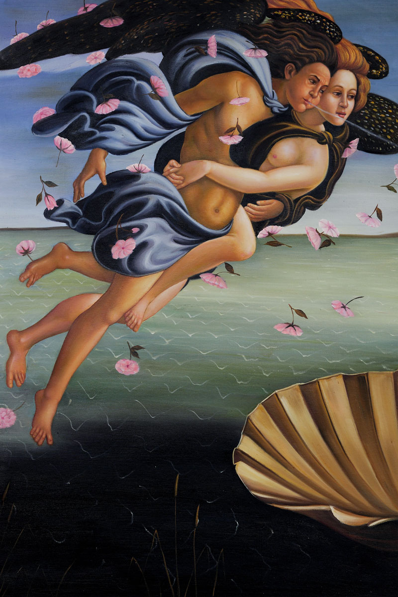 Birth Of Venus (Left Panel) - Sandro Botticelli painting on canvas