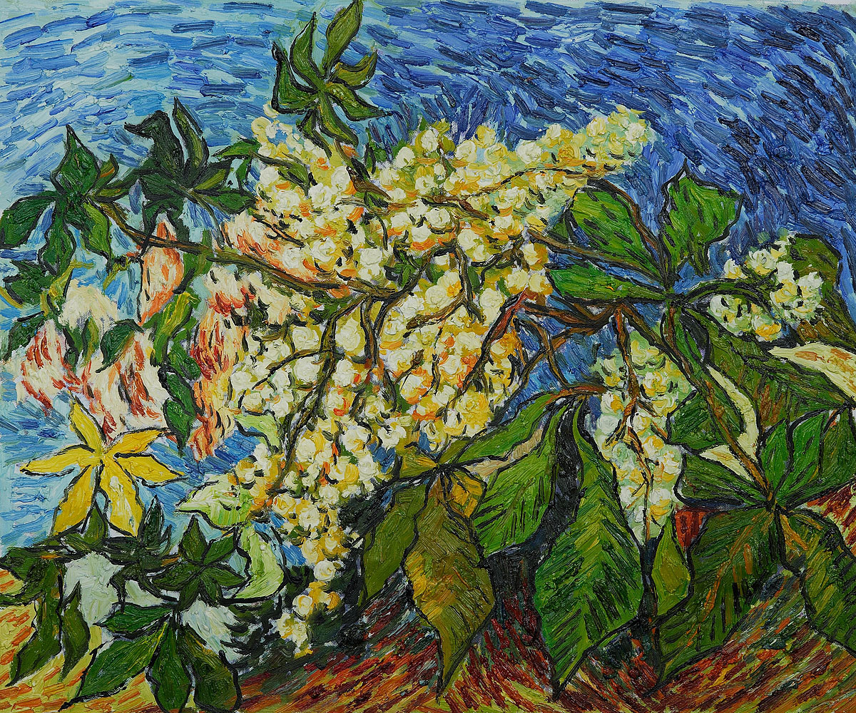 Blossoming Chestnut Branches - Van Gogh Painting On Canvas