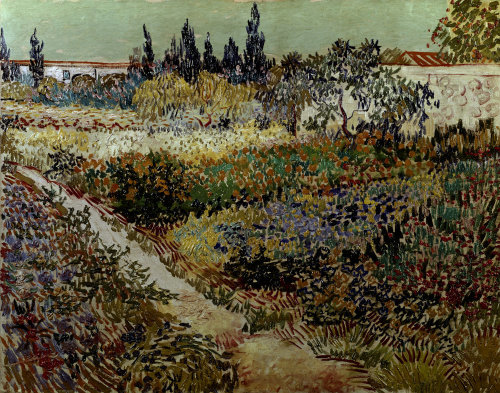 Blossoming garden and path - Van Gogh Painting On Canvas