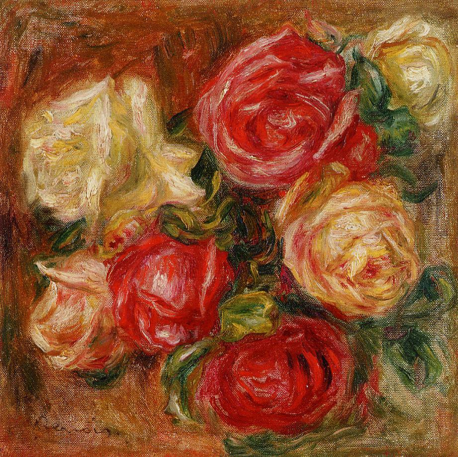 Bouquet of Flowers by Renoir - Pierre-Auguste Renoir painting on canvas