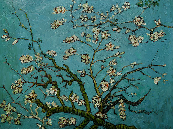 Branches of an Almond Tree in Blossom - Van Gogh Painting On Canvas