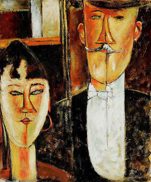 Bride and Groom - Amedeo Modigliani Paintings