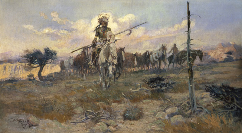 Bringing Home the Spoils - Charles Marion Russell Paintings