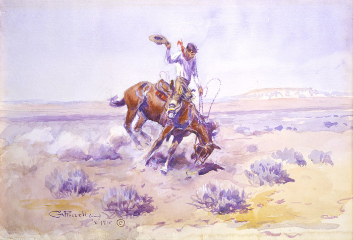 Bronco Buster - Charles Marion Russell Paintings