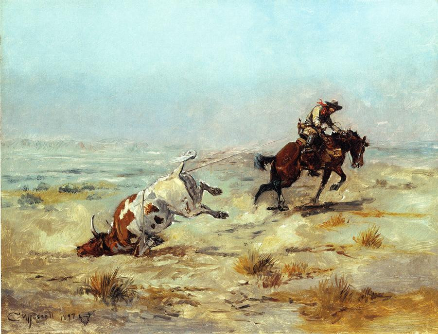Buffalo Hunt - Charles Marion Russell Paintings