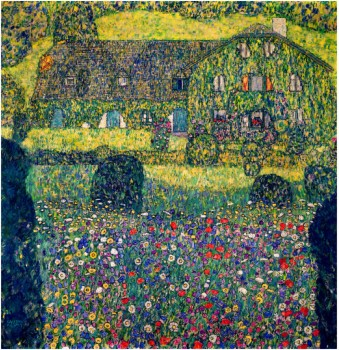 COUNTRY HOUSE ON ATTERSEE LAKE, UPPER AUSTRIA, 1914 - Gustav Klimt Paintings