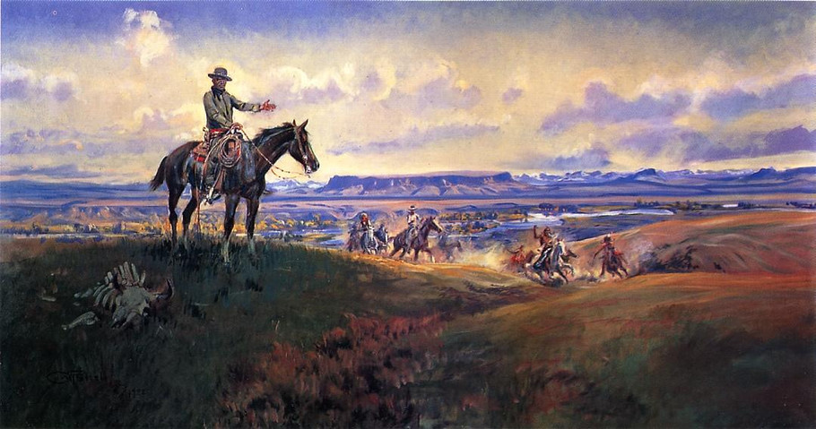 Charles M. Russell and His Friends - Charles Marion Russell Paintings