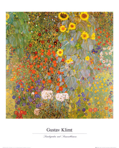 Country Garden with Sunflowers - Gustav Klimt Paintings