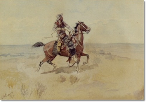 Cowboy On The Range - Charles Marion Russell Paintings