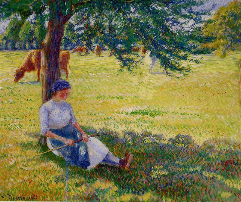 Cowgirl, Eragny - Camille Pissarro Paintings