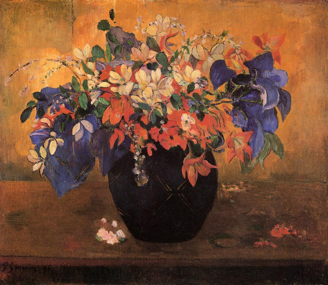 Flower Piece - Paul Gauguin Painting