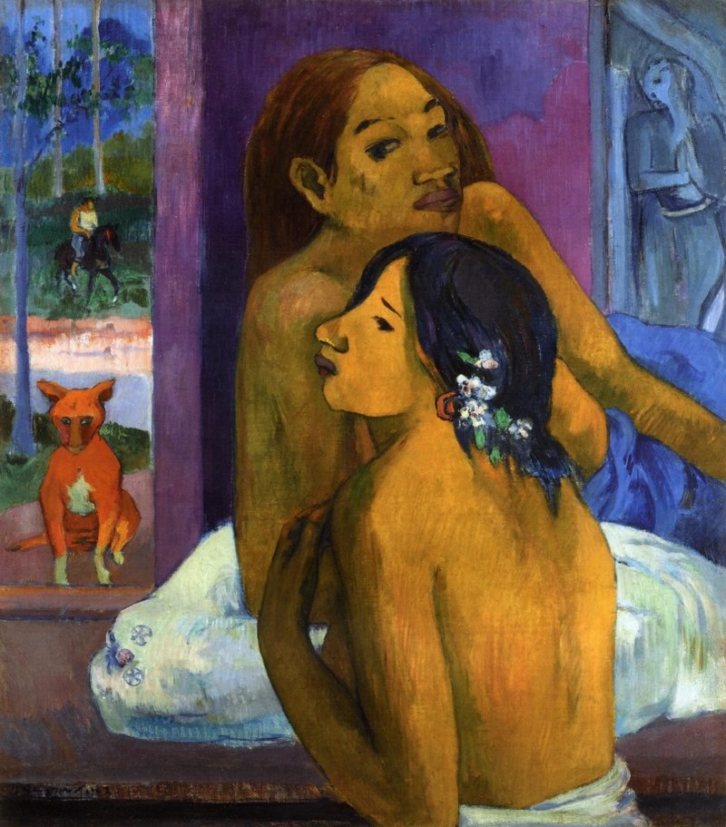 Flowered Hair - Paul Gauguin Painting