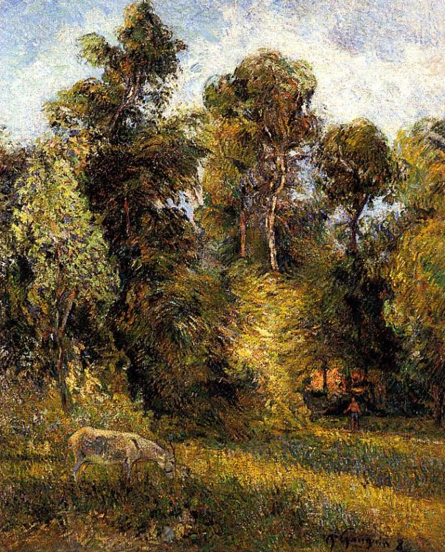 Forest Edge - Paul Gauguin Painting