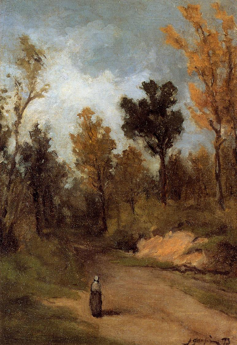 Forest Path - Paul Gauguin Painting