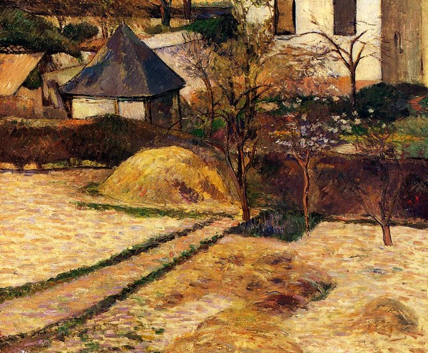 Garden View, Rouen - Paul Gauguin Painting