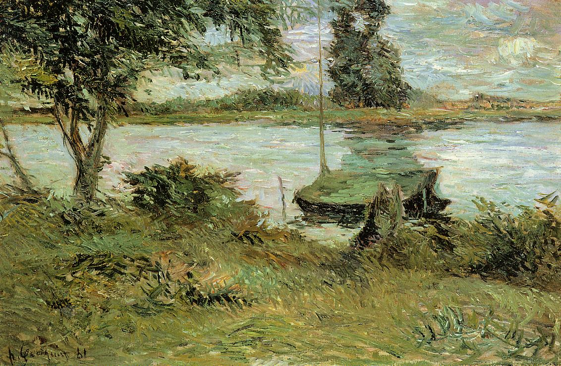 Gauguin Banks of the Oise - Paul Gauguin Painting