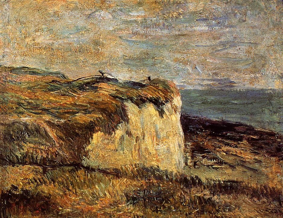 Gauguin Cliff near Dieppe - Paul Gauguin Painting